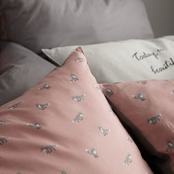 레티 핑크 60수아사면 베개커버(50x70)