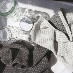double stripe kitchen fabric  (2 color)