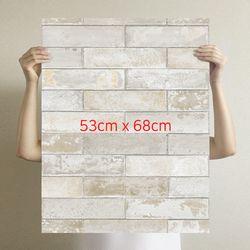 [무지막지]더큰 THE조각벽지 벽돌그레이 1M시공