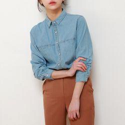 베이직 데님 셔츠 (2color)
