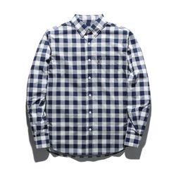 18ss 플루크 체커 셔츠 FLS018C805 네이비