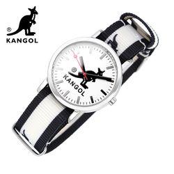 [KANGOL] 캉골시계 나토밴드시계 KG112323 BWB LOGO