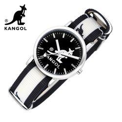 [KANGOL] 캉골시계 나토밴드시계 KG112321 BWB LOGO