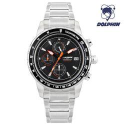 돌핀 크로노그래프 남자 메탈시계 DP 900-1 BLACK