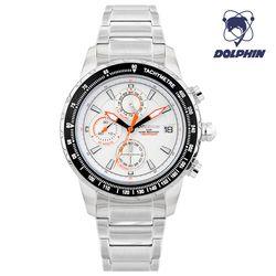 돌핀 크로노그래프 남자 메탈시계 DP 900-1 WHITE