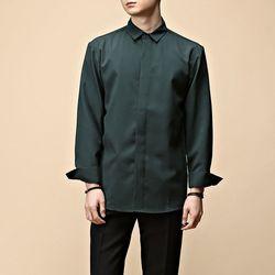 [매트블랙] 베이직 루즈 히든 셔츠