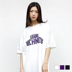 [1+1(선택가능)] 2072 그랜드 프린트 반팔 티셔츠 (3colors)