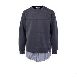 남성 셔츠 레이어드 지퍼 긴팔 티셔츠 DMLS27
