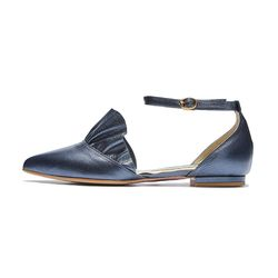 PM0003 frill side open flat navy