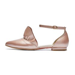PM0003 frill side open flat pink