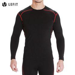 LeFit 남성 긴팔 티셔츠BLACKRED