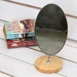 빠띠라인 원목 타원반달 거울 YA