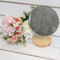 빠띠라인 원목 원형반달 거울 YA