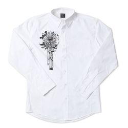 그린바나나 Cross White Shirts