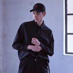 밴웍스 솔리드컬러 셔츠 (VNAHSH007) 블랙