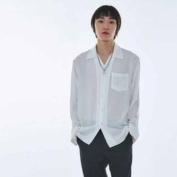 UNISEX Open Collar Neck Shirt MRT004 (White)