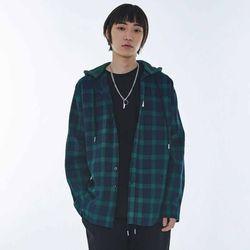 UNISEX Hoodie Check Shirt MRT002 (Green)