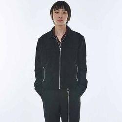 UNISEX Sleeve Zipper suede Jacket MRO008 (Black)