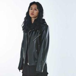 UNISEX Tab Leather Jacket MRO004 (Black)