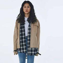 UNISEX Eyelet Cotton Cover Jacket MRO001 (Beige)