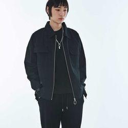 UNISEX Eyelet Cotton Cover Jacket MRO001 (Black)