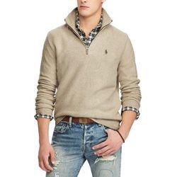 폴로 하프 반집업 니트 스웨터 4344 002 오트밀