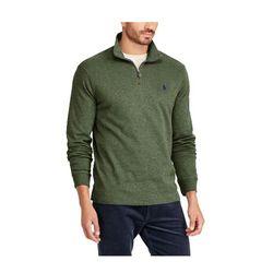 폴로 하프 반집업 니트 스웨터 6383 006 딥그린