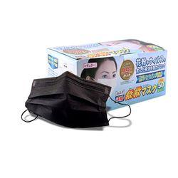 일회용마스크 3중필터 50매 박스형 블랙