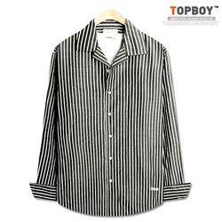 [탑보이] 오픈카라 오버핏 스트라이프 셔츠 (DO269)