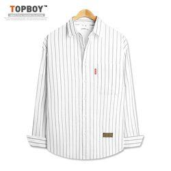 [탑보이] 핏이예쁜 박시한 스트라이프 셔츠 (DO266)
