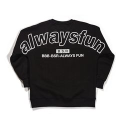 BSRABBIT BSRALWAYS CREWNECK BLACK