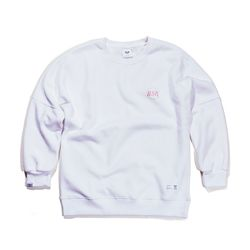BSRABBIT THE B CREWNECK WHITE