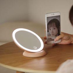 밝기조절 LED 메이크업 거울 램프 오드리