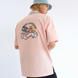 TROPICAL FLOWER BOWLING SHIRTS PINK
