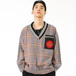 ARCHERY TARGET V NECK PULLOVER CHECK SHIRT RED