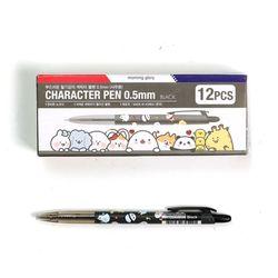 500 캐릭터 볼펜 0.5mm (흑) X 12EA