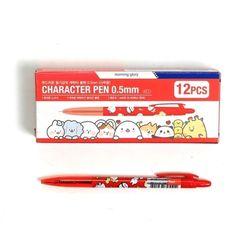 500 캐릭터 볼펜 0.5mm (적) X 12EA