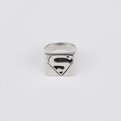 [라이센스 확인 필요] 사각 슈퍼맨 은반지