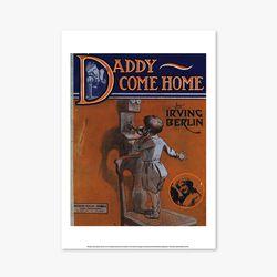 빈티지아트포스터 - Daddy Com Home 0002