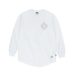 DESTROYER LAYERED LONG SLEEVES T-SHIRTS WHITE