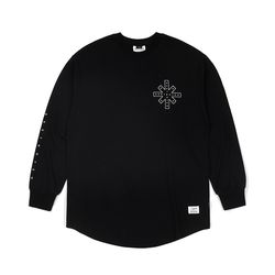 DESTROYER LAYERED LONG SLEEVES T-SHIRTS BLACK
