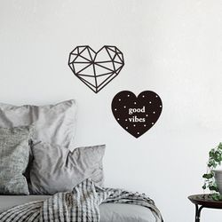 Heart 레터링 그래픽스티커 포인트스티커
