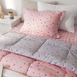 소소한하루 세미 차렵베딩-핑크-싱글풀세트