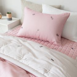 플라워포트 세미 차렵베딩-핑크-싱글풀세트