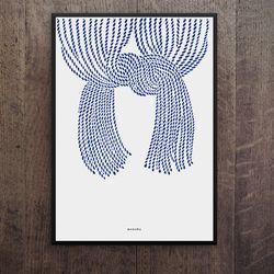 일본 유니크 디자인 포스터 M 노렌2 A3(중형)