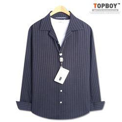 [탑보이] 모던시크 기본핏 스트라이프 셔츠 (DO272)