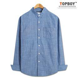[탑보이] 남성캐주얼 기본핏 청 차이나 셔츠 (DO273)