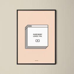 유니크 디자인 포스터 M 메세지팝업 A3(중형)