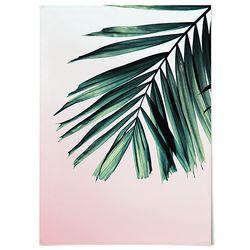 패브릭 포스터 F212 식물 액자 그린 & 핑크 [중형]