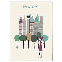 패브릭 포스터 F216 여행 풍경 그림 뉴욕 [중형]